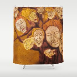 The Laid-Back Ones Tree / A Árvore dos Pacatos Shower Curtain