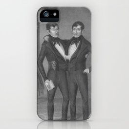 Chang and Eng Bunker - Siamese Twins Portrait iPhone Case