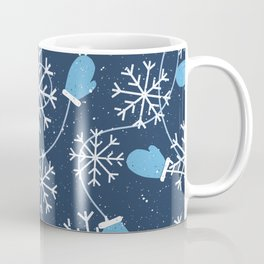 Snowflakes & Winter Gloves Coffee Mug