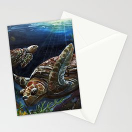 Green Sea Turtles Stationery Cards