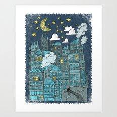 LULLABY TOWN Art Print