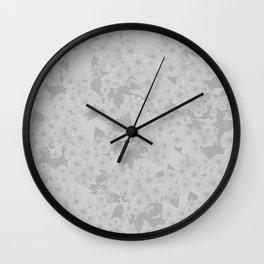 Subtle Blossom (Dove Grey) Wall Clock