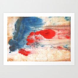 Red Blue watercolor Art Print