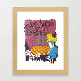 Alice in wonderland III Framed Art Print