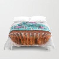 cupcake Duvet Covers featuring Cupcake by Manuela Mishkova