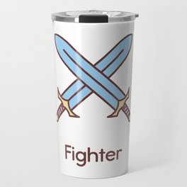 Cute Dungeons and Dragons Fighter class Travel Mug