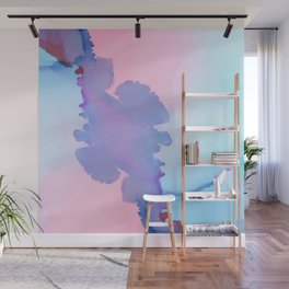Immortal Fluid ink abstract watercolor Wall Mural