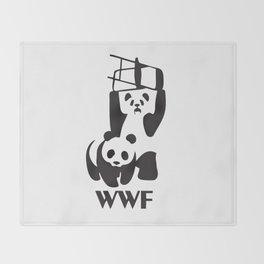 WWF Panda Chair Throw Blanket