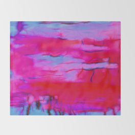 Pink Storm Throw Blanket