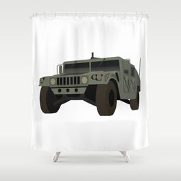 HUMVEE Army Military Truck Shower Curtain