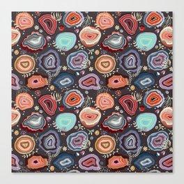Colorful agates Canvas Print