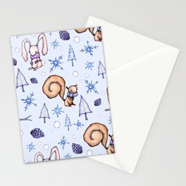 Blizzard Blues Stationery Cards