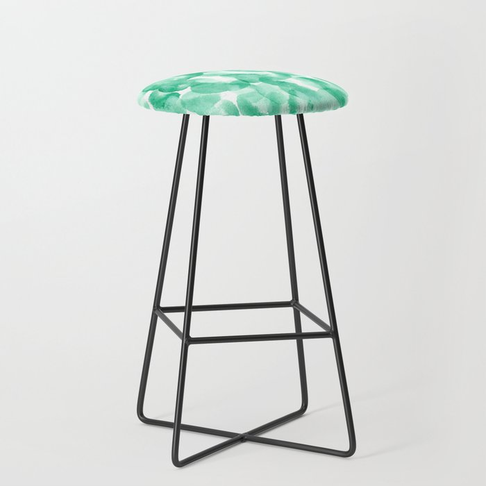 Green Abstract Painting Bar Stool
