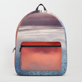 Beautiful Landscape Ocean Sunset Backpack