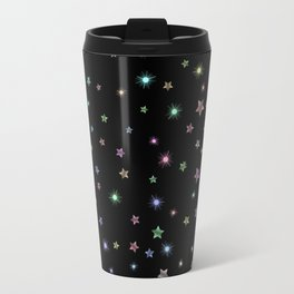 Colored Sparkling Stars Metal Travel Mug