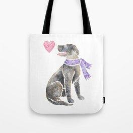 Watercolour Irish Wolfhound Tote Bag
