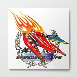 speed boat tee Metal Print