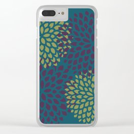 Burgundy Lime Blossoms Clear iPhone Case