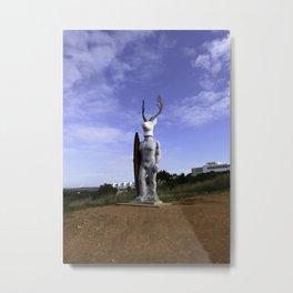 Veado Surfer Statue Standing Tall Metal Print
