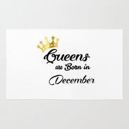 Queens are born in December Rug