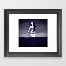 Woman in the ocean  Framed Art Print