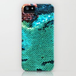 Turquoise Sparkles iPhone Case