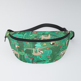 Sloths in the Emerald Jungle Pattern Fanny Pack
