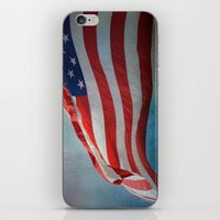 american flag iPhone & iPod Skins featuring American Flag by Jai Johnson