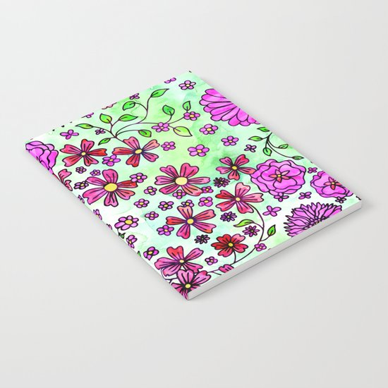 Pink Small Flowers Notebook