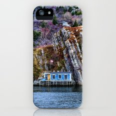 Old Fisherman House on water in Newfoundland, canada Slim Case iPhone (5, 5s)