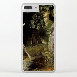 Alexandre Francois Desportes - Landscape with a Dog and Partridges Clear iPhone Case