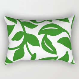 PALM LEAF VINE SWIRL IN GREEN AND WHITE Rectangular Pillow