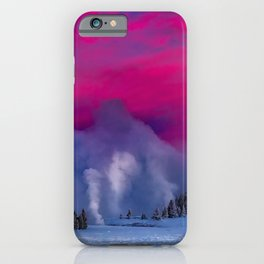 Geysers Raising - Sunrise - Yellowstone National Park iPhone Case