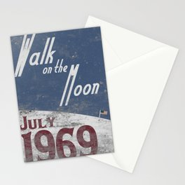 Walk on the Moon Stationery Cards