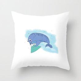 Sky Whale Throw Pillow