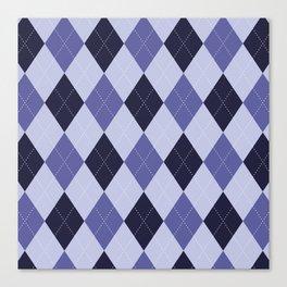 Blue Argyle Pattern Canvas Print
