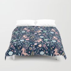 Unicorns in Hesperides Duvet Cover