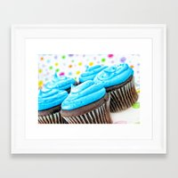 cupcakes Framed Art Prints featuring Cupcakes by ThePhotoGuyDarren