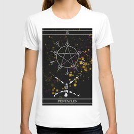 A Tarot of Ink 09 of Pentacles T-shirt