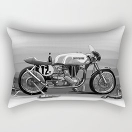 Beer Savage Vintage Norton Cafe Racer Rectangular Pillow