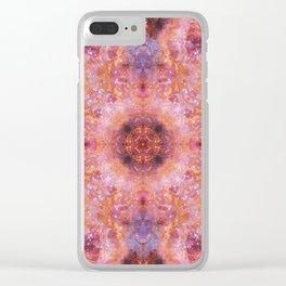 Cosmic Light Mandala Clear iPhone Case
