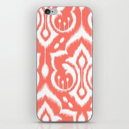 Ikat Damask Coral iPhone Skin
