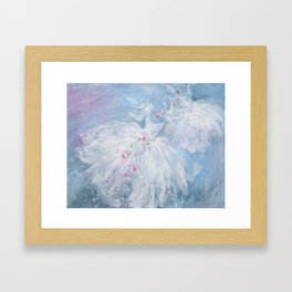 Tutus' in Aqua Framed Art Print