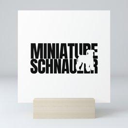 Miniature Schnauzer Breed Lover Mini Art Print