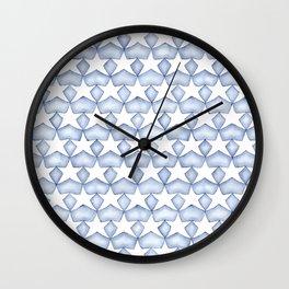 Indigo Stars Wall Clock