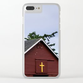 Cross and Barn Clear iPhone Case