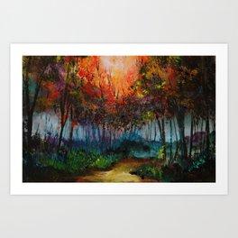 Spirit Trees Landscape Art Print
