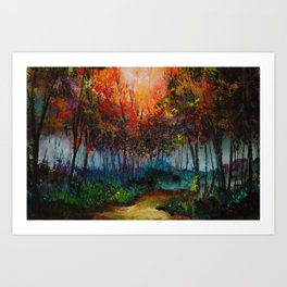 Spirit Trees Landscape Art Print