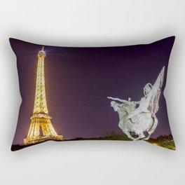 Pont de Bir-Hakeim at night Rectangular Pillow