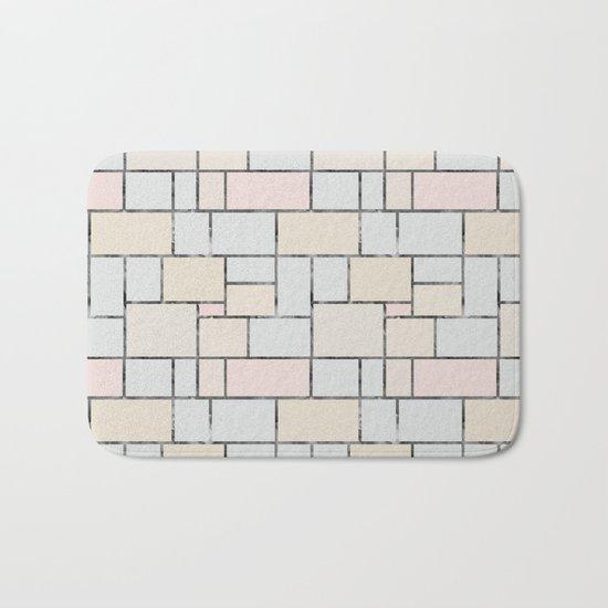 Tile pattern in soft pastel tones Bath Mat